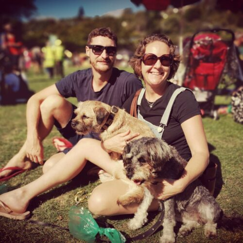 The Share My Pet family at Nelson's Race Unity Day. Dave and Lili + Snout and Miss Muppet